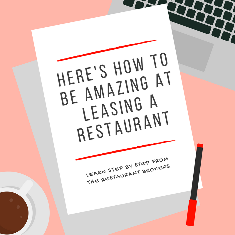Here's how to be amazing at leasing a restaurant