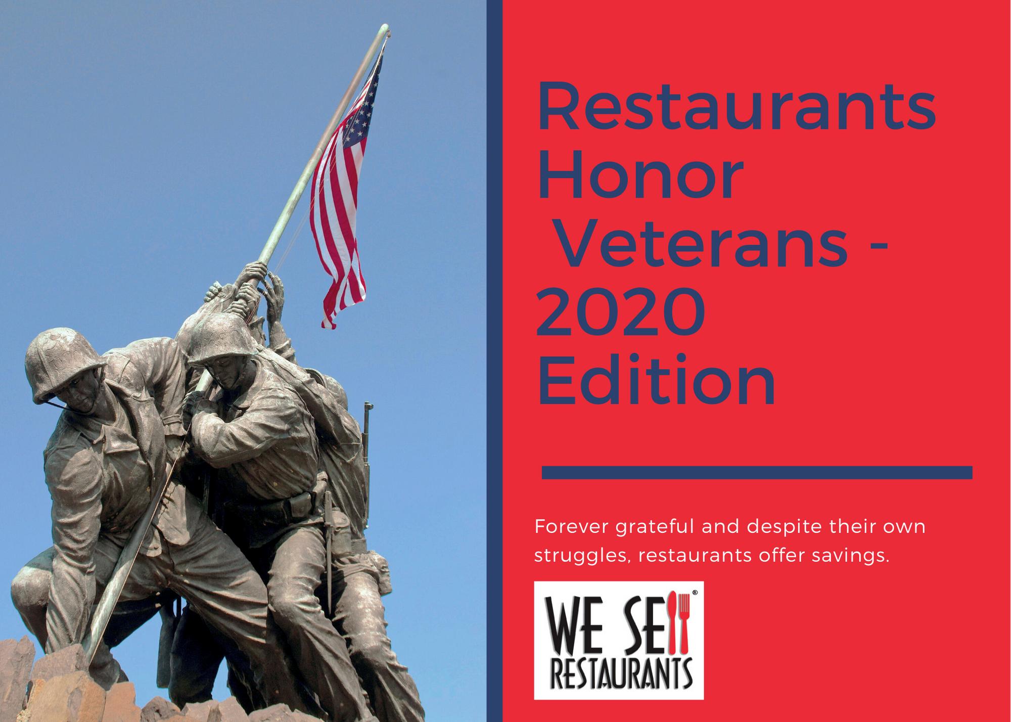 Restaurant honor Veterans 2020