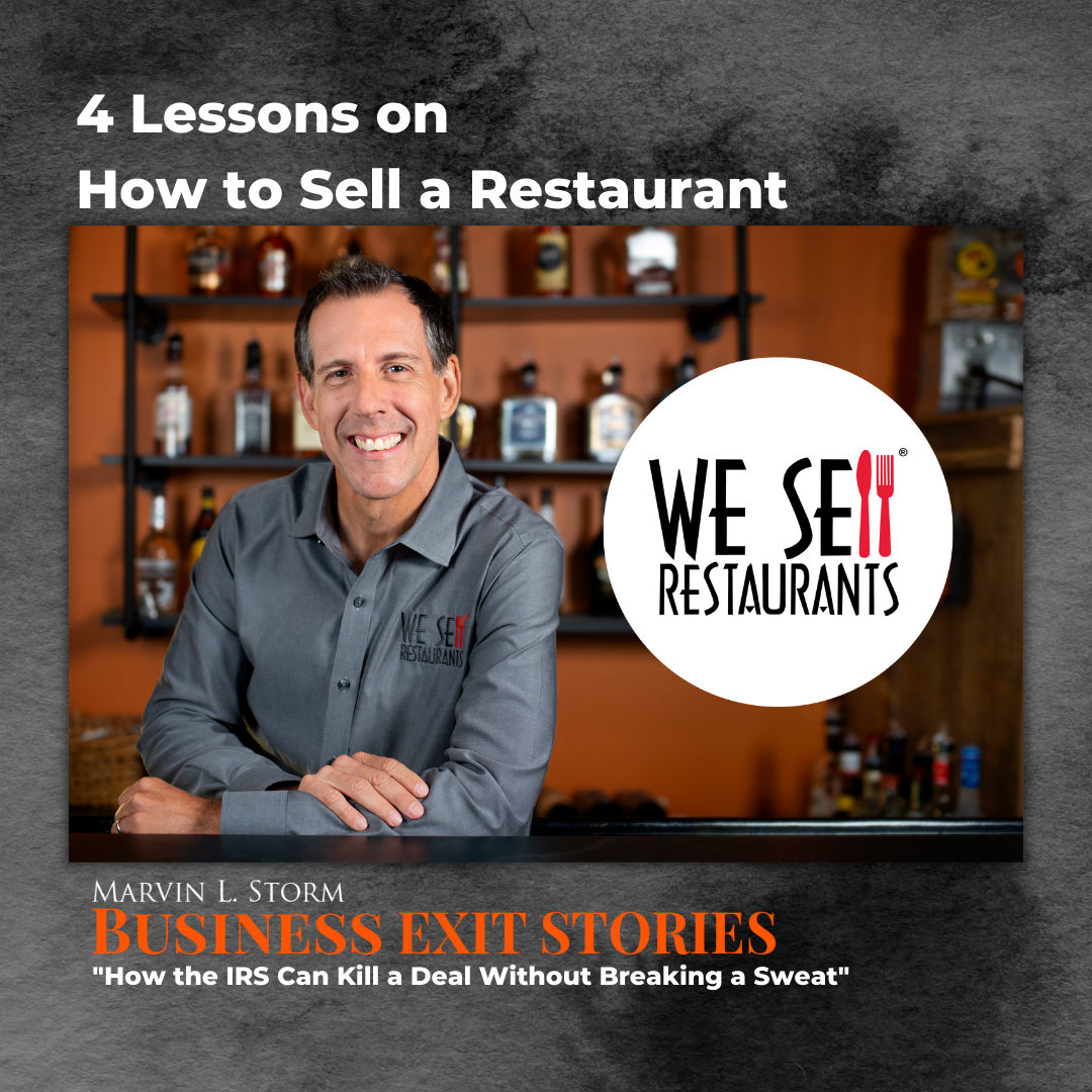4 Lessons on How to Sell a Restaurant -Eric Gagnon on Business Podcast