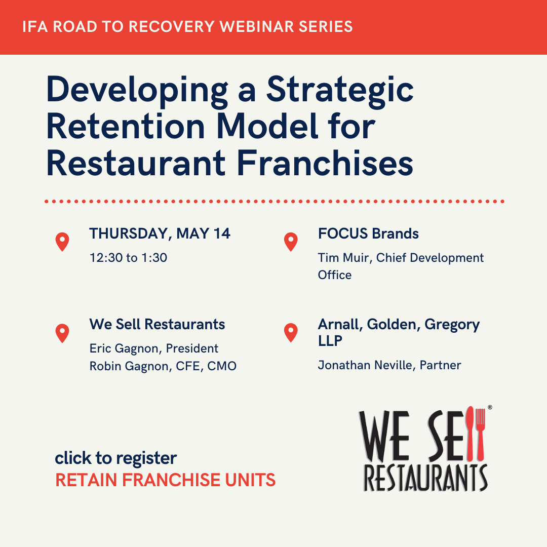Restaurant Franchises to Join We Sell Restaurants on Webinar focused on Strategic Retention