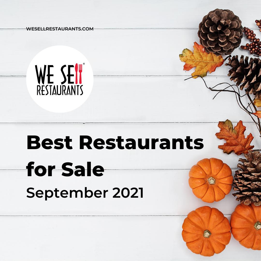 The Best Restaurants for Sale in September 2021